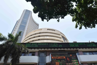 Equities in red, Sensex down over 100 points