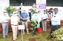 Sanjeev Mittal  GM  CR launched Tree Plantation Drive at Chhatrapati Shivaji Maharaj Terminus near Platform no. 18 on the occasion of Swachhata Pakhwada