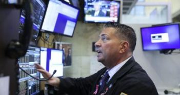Dow drops over 400 points amid stimulus