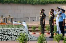Wreath laying at National War Memorial on the ocassion of AFDP 2020