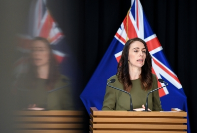 Ardern eyes majority as NZ heads