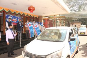Central Bank of India organized Road Show and distributed MASKS