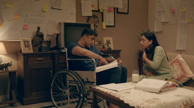 Amit Sadh: Sitting on a wheelchair