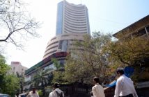 Equity indices rise, Sensex above