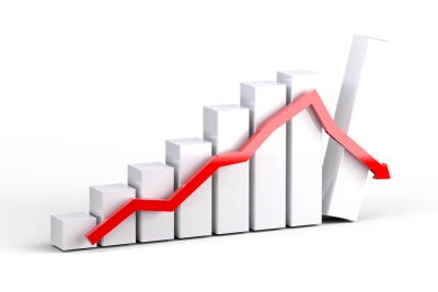 Equity indices fall, Sensex