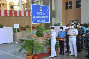 Covid-19 vaccination drive for Indian naval personnel begins at INHS ASVINI, Mumbai