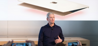 Cook happy at Apple doubling