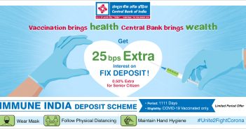 Central Bank of India launches Special Deposit Scheme for COVID 19 jab