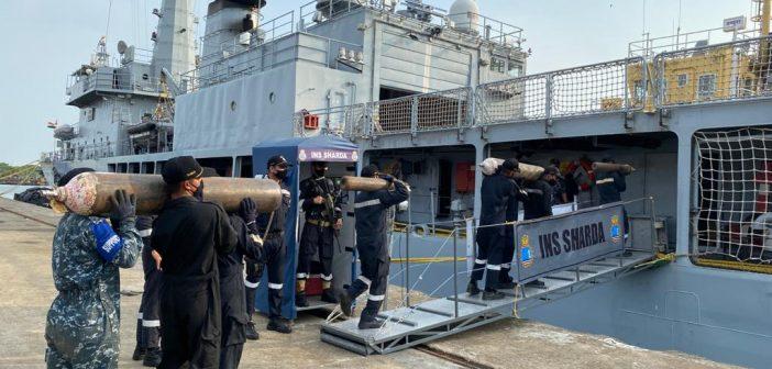 "SNC deputes naval ships as ""OXYGEN EXPRESS"
