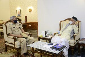 DGP Sanjay Pandey calls on Governor