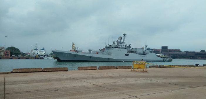 Indian Naval ships KOCHI & TABAR arrive at New Mangalore port