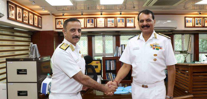 Vice Admiral Dinesh K Tripathi, AVSM, NM assumes charge