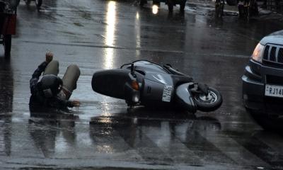 Three killed in road mishap