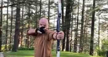Anupam Kher tries archery
