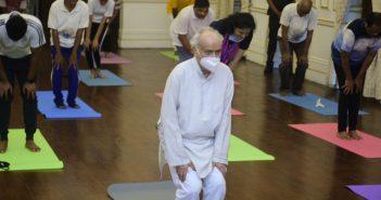 Governor Koshyari joins Yoga Session on International Day of Yoga