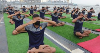 International Day of Yoga celebrated at Western Naval Command