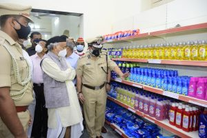 Governor opens Police Subsidiary Canteen in Raj Bhavan premises
