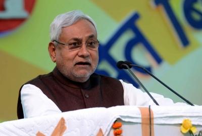 Nitish Kumar in Delhi, sets