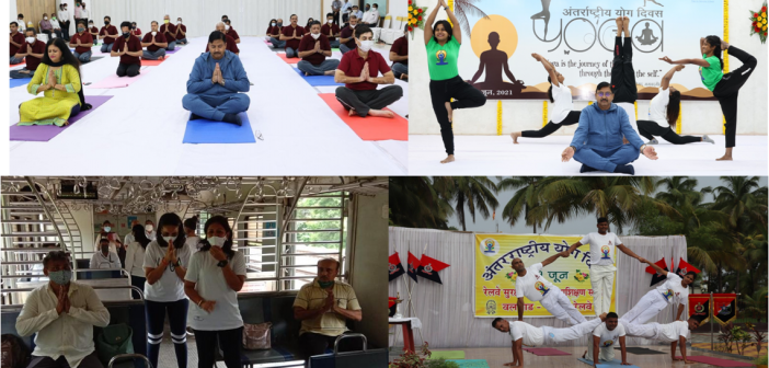 International Yoga Day observed on Western Railway with enthusiasm and fervour