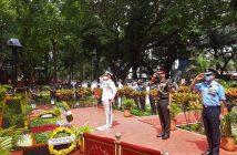 Homage paid to war heroes on Kargil Vijay Diwas at Shaheed Smarak, Mumbai