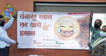 """The NGO """"Voice Against Tobacco"""" is using emojis to create anti-tobacco banners"""