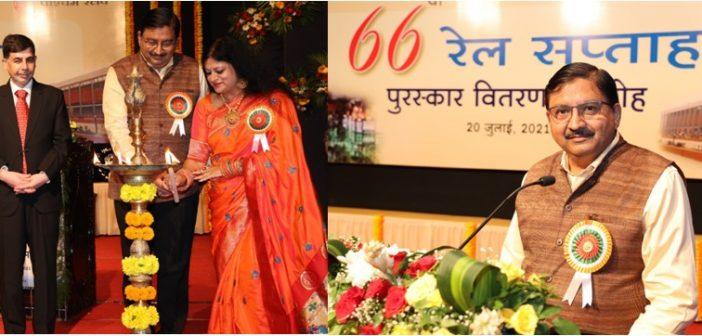 Western Railway's 66th Railway Week Award function was held on Tuesday, 20th July