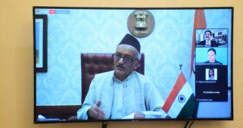 The Governor of Maharashtra Bhagat Singh Koshyari inaugurated the 7th Global Literary Festival through online mode from Raj Bhavan Mumbai on Tuesday (14th)