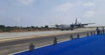 IAF aircraft carrying Rajnath, Gadkari lands at NH in Rajasthan
